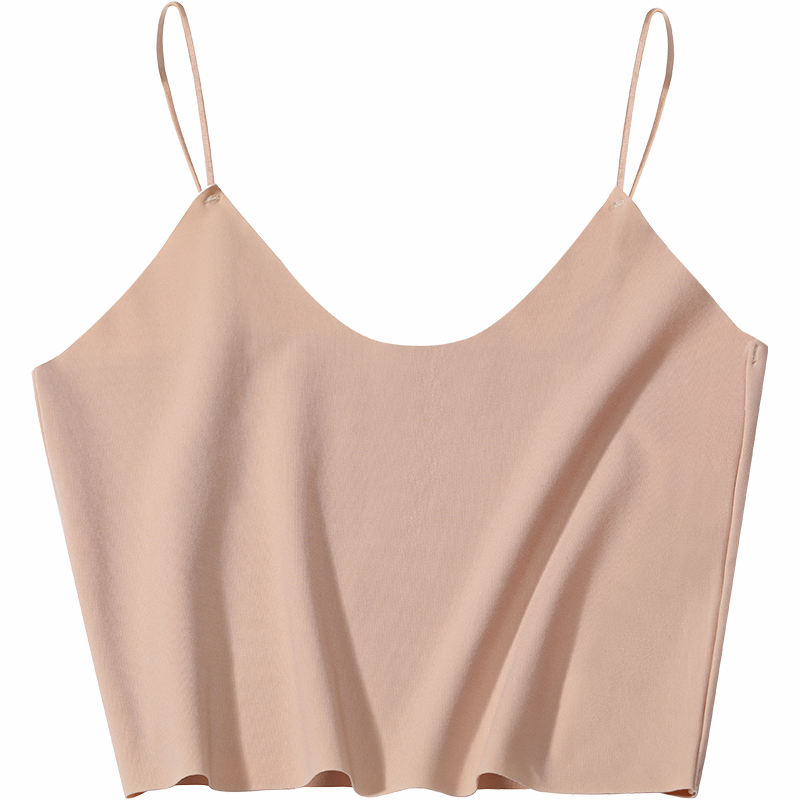 Modal Seamless Tube Top Ultra-Thin Outer Wear Girls Sexy Navel Short Ladies Strap Vest Women's Tank Tops