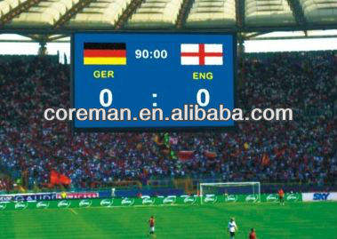 Coreman high bright big clock,score,number PC control football stadium led board