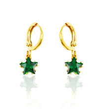 xuping jewelry 24 k gold stars zircon earrings dubai, cheap fashion girls earrings