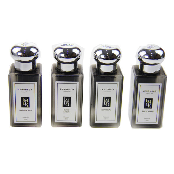 Hotel Amenities Empty Bottles Silver Cap