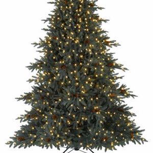 7ft pretty white artificial noble pre lit Christmas tree sale