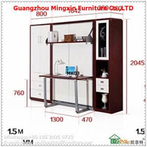 Me demande murphy lit avec bureau vertical mur lit laminé contreplaqué armoire