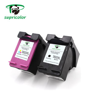 compatible printer remanufactured ink cartridge chip reset to full level ink cartridge for hp 302 302XL