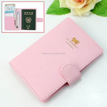 Dustproof waterproof pu leather passport holder/passport cover/ passport wallet wholesale