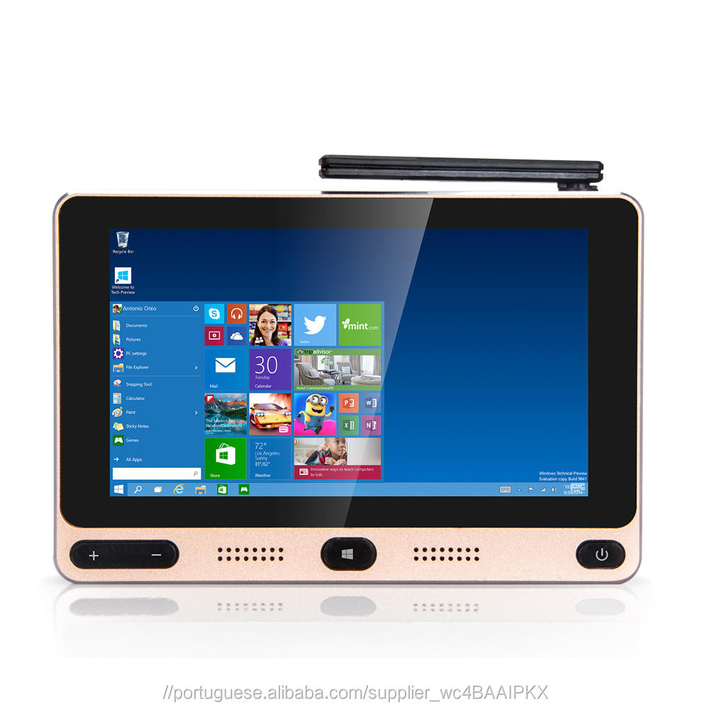 Z8350 GOLE1 5 polegadas Intel Quad Core 4 + 64 GB Smart TV Box Windows10 + Android 5.1 Mini PC