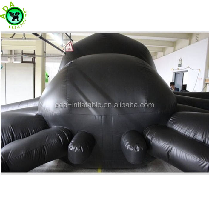 Lawn decoration Halloween event giant 8m long inflatable spider for promotion ST845