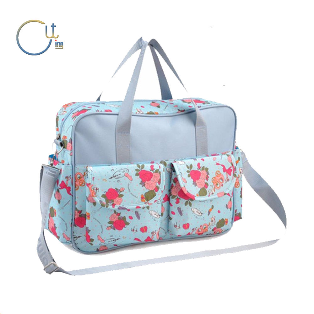 Fashion Design Microfiber Material Baby Diaper Bag Travel Mommy Bag