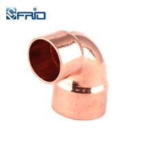 Red Copper fittings BA645 / EN1254 Reducing 90 Degree Elbow