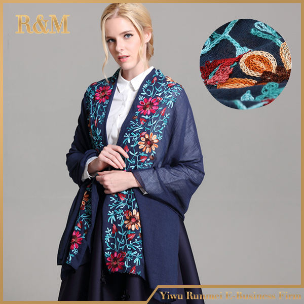 2017 New Floral Design handmade wool scarf
