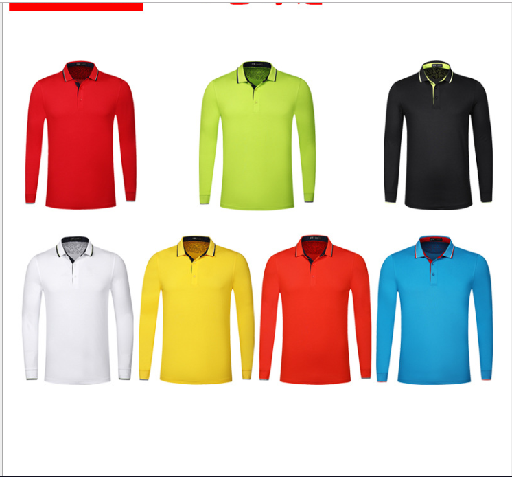 High quality OEM custom unisex blank long sleeve 100% polyester polo shirts golf clothing wear