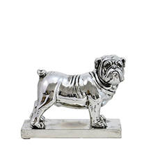Hot Sale Personalized Handmade Polyresin Metallic Bully Dog Figurine