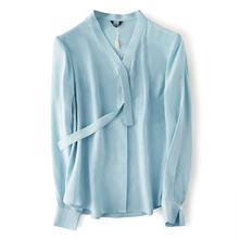 2020 fashion beautiful blouses for women long sleeve ladies casual apparel factory oem silk ladies blouses shirt