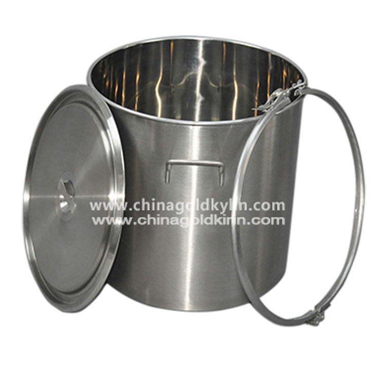 Professional Manufacture Stainless Steel Pail With Lid