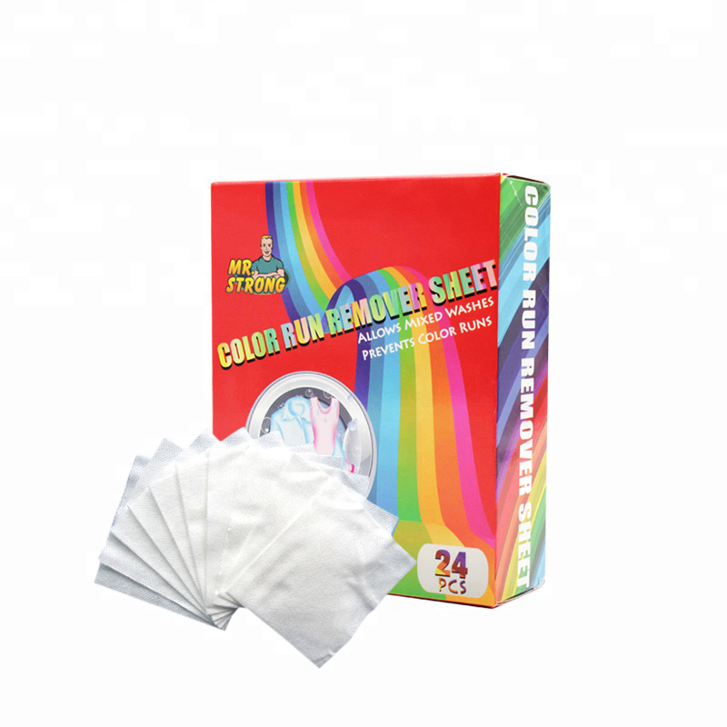 New product color run remover spunlace sheet