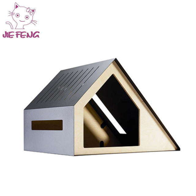 Cute design good qualtity sturdy material colorful MDF cat dog house