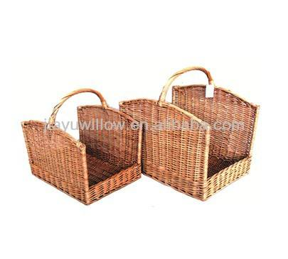 Buy wicker basket for firewood from Supplier