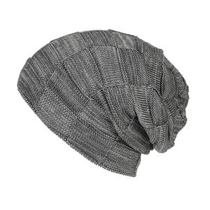 Winter casual acrylic knit hats for women men baggy beanie hat crochet slouchy ski cap warm cap