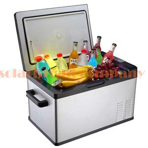 40L mini portable dc compressor camping outdoor chest freezer battery powered dc 12v dc 24v 40l car mini fridge 220v 12v
