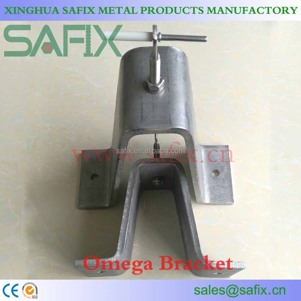 304 316L Stainless Steel Stone Cladding Omega Bracket for Wall Mounting Anchor