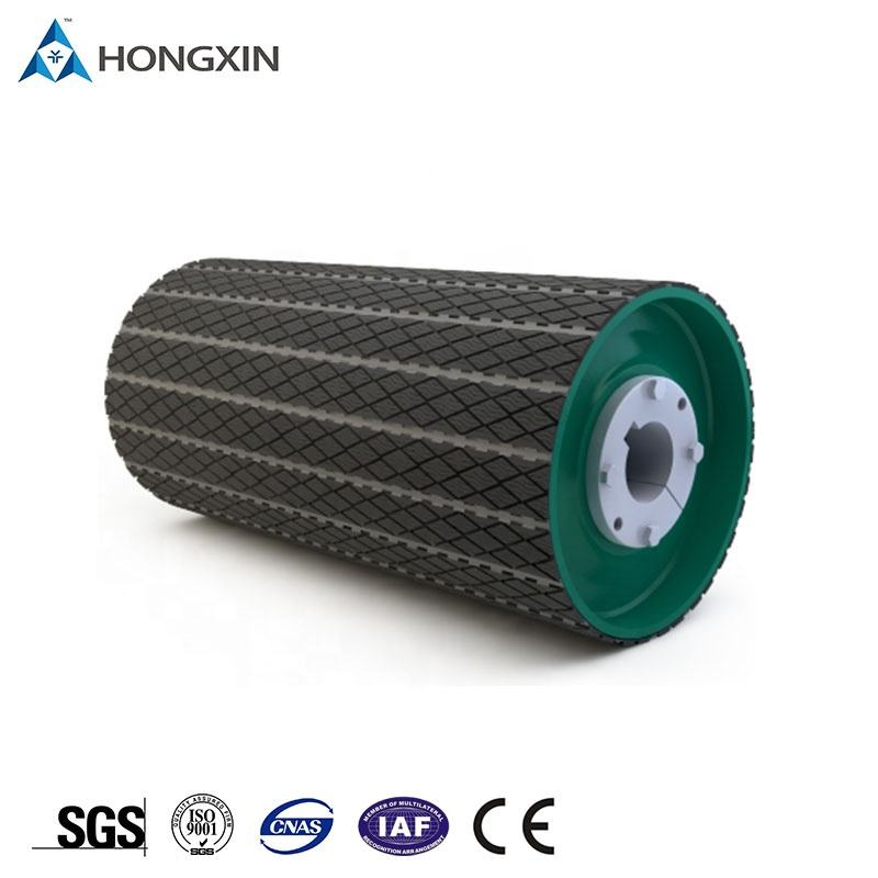 High Temperature Resistant Conveyor Replaceable Pulley Lagging Head Conveyor Roller Lagging Low Friction Rubber Lagging