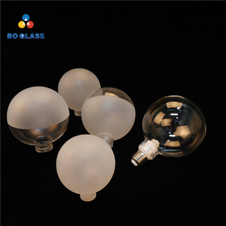 High Quality Decorative Frosted Halogen Light Cover Borosilicate Glass Ball Sphere