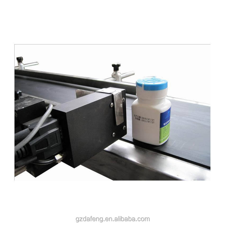 Guangzhou factory supply inkjet expire date code printer for PET bottle / plastic bag / paperboard box /metal sheet