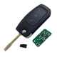 Car Smart Key 3 Button Flip Remote Key 433 MHz 4D60 Chip FO21 Blade For Ford Car Key