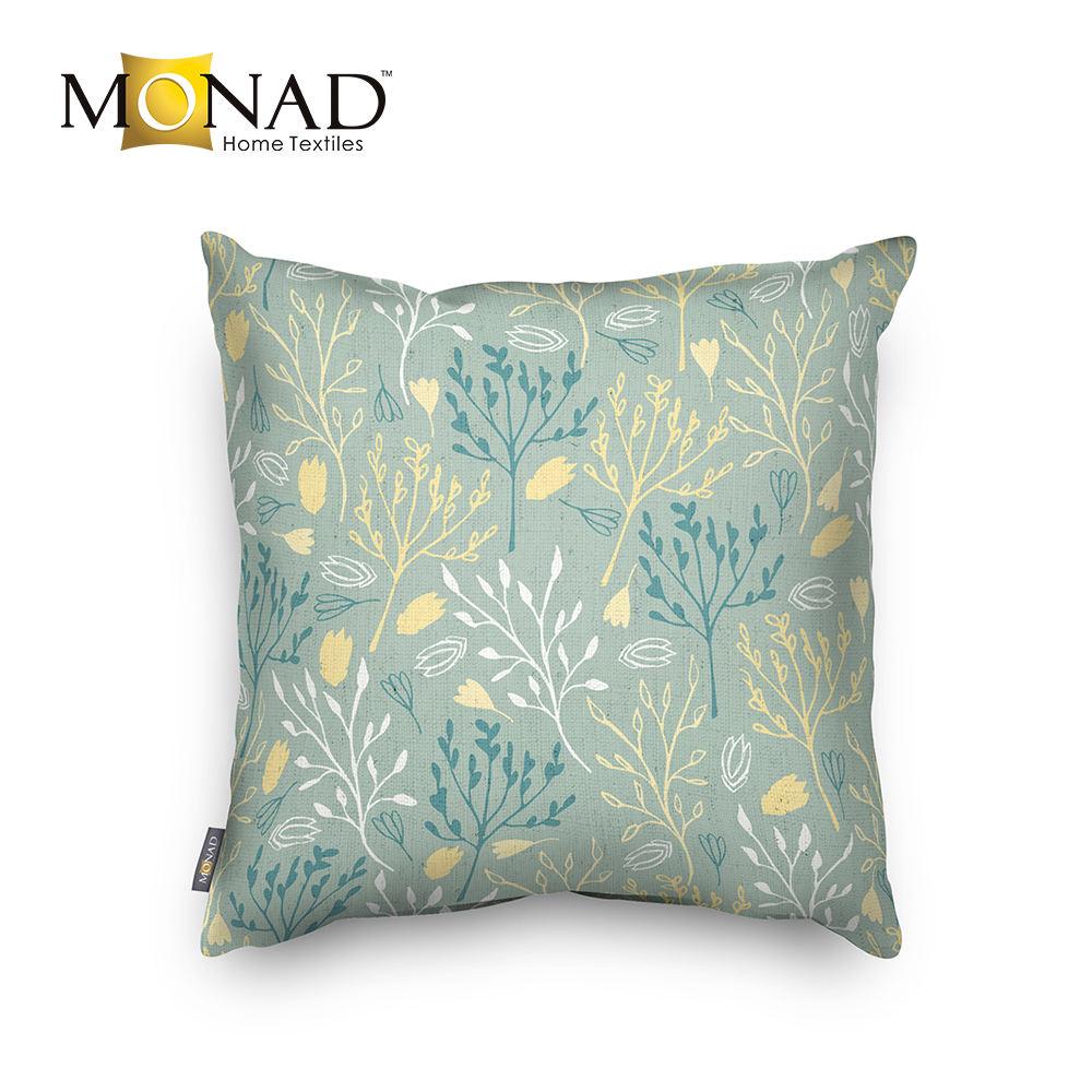 Монада бледно-зеленый подушки наволочки 22x22 для дивана