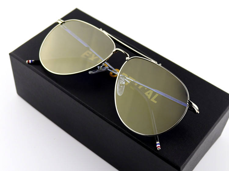 Retro Lenses Sunglasses Flat Lens 75mm with Flash Mirror Coatings KD-A3 EXIA OPTICAL