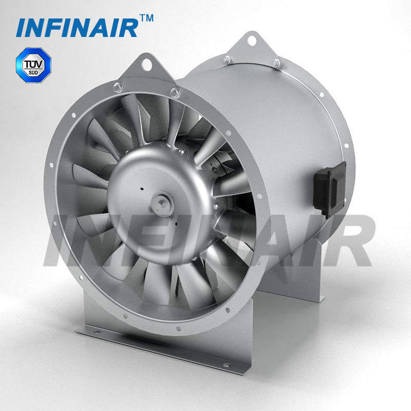 High efficiency vane axial fan for commercial building