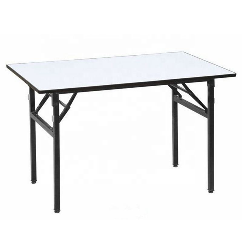 White PVC top adjustable feet modern rectangle dining table EZ-66C