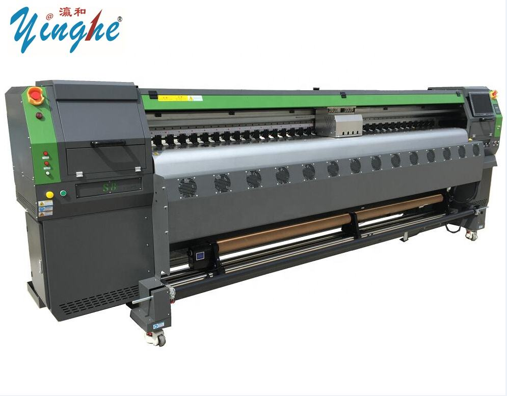 New product 240sqm/h wide format 10 feet industrial inkjet banner printer Konica 512i