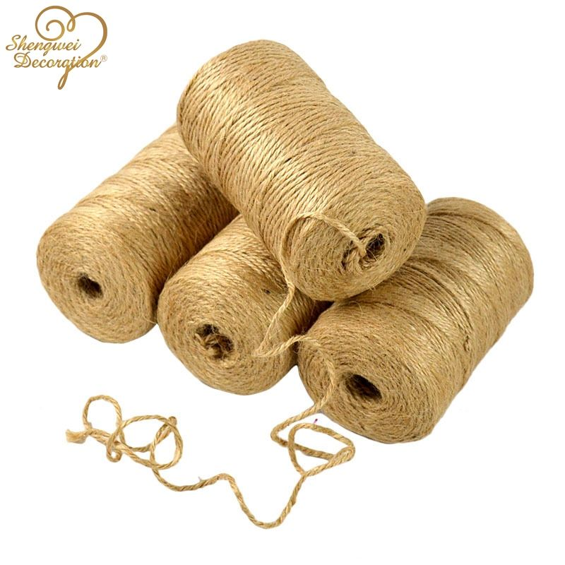 2mm 3mm 4mm 5mm 6mm 7mm 8mm 10mm 12mm 100% Natural Jute Hemp Twisted Rope