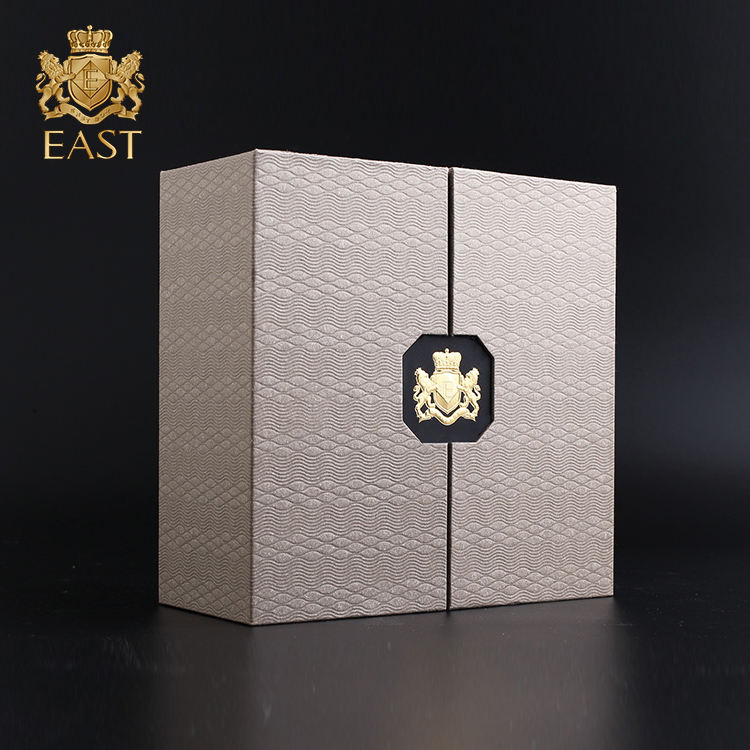 Drawer Slide Flip Gift Packaging Box,Recycled Materials Feature and Embossing Printing Handling Paper mache box
