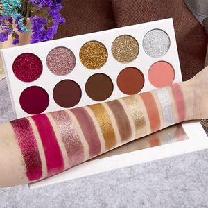 Private Label Cosmetics Makeup 10 Color Cardboard Eyeshadow Palette