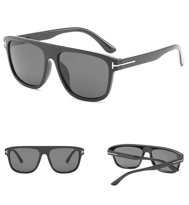 DLL5197 Cool Men Black Square Sunglasses Fashion Sun Glasses 2019