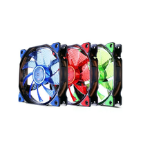 12cm Computer  cooler  Luminous  be quiet Cooling  DC 12V 3/4pin 120mm 15 LED  lights PC case fan
