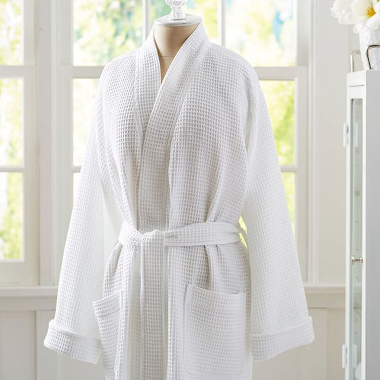 Hotel Linen Factory wholesale hotel waffle bathrobe 100% cotton for spa resorts