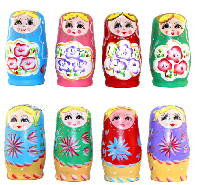 Hot Sale Wooden Handicraft russian matryoshka dolls