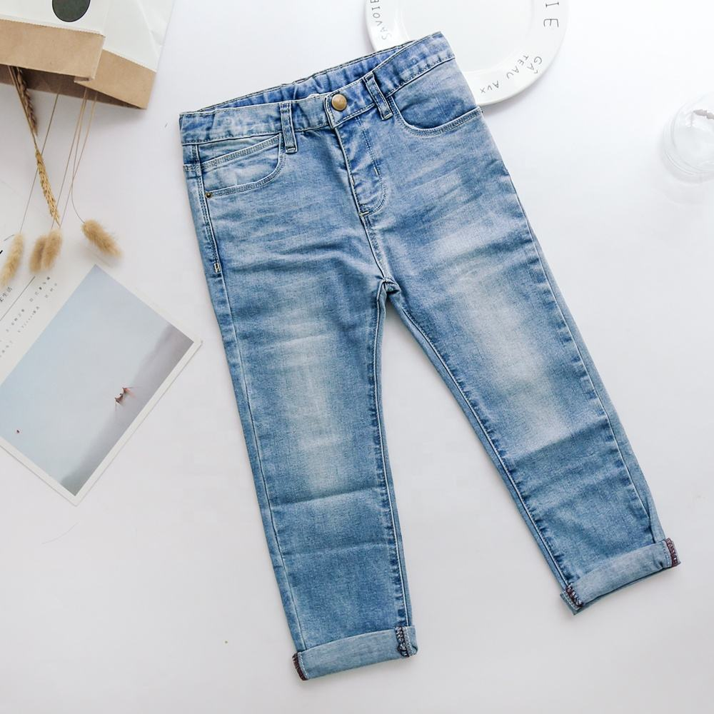 Kids Jeans Pants Wholesale Kids Girls Jeans Distressed Wash Children Boy Pants Denim Trousers Jeans For Girl Kids