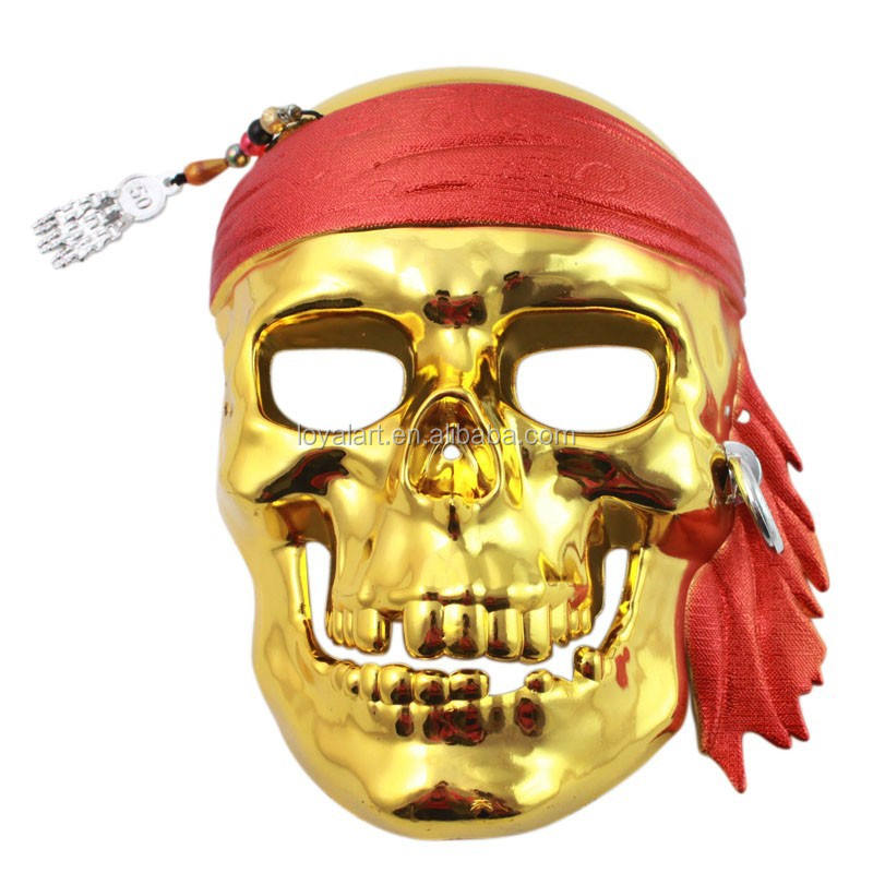 Best Selling Electroplate Pirate Horror Skull for Halloween Party
