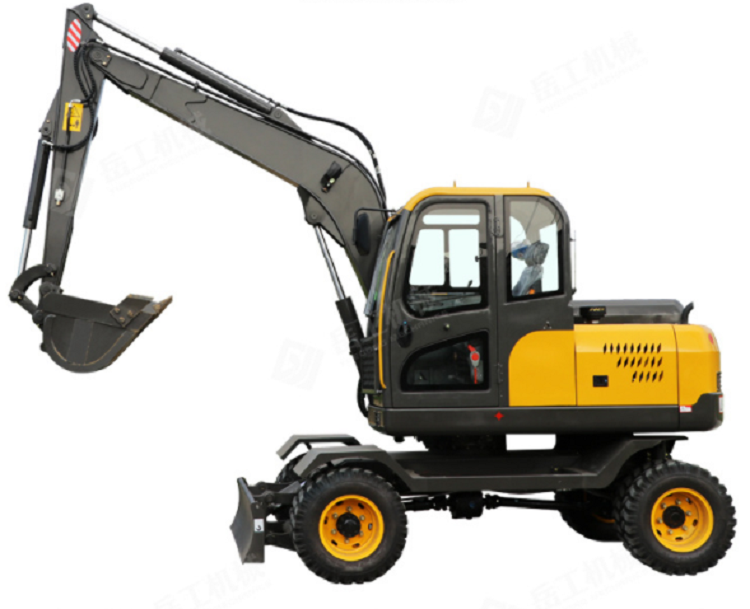 Mechanical walking small wheel excavator factory direct sales