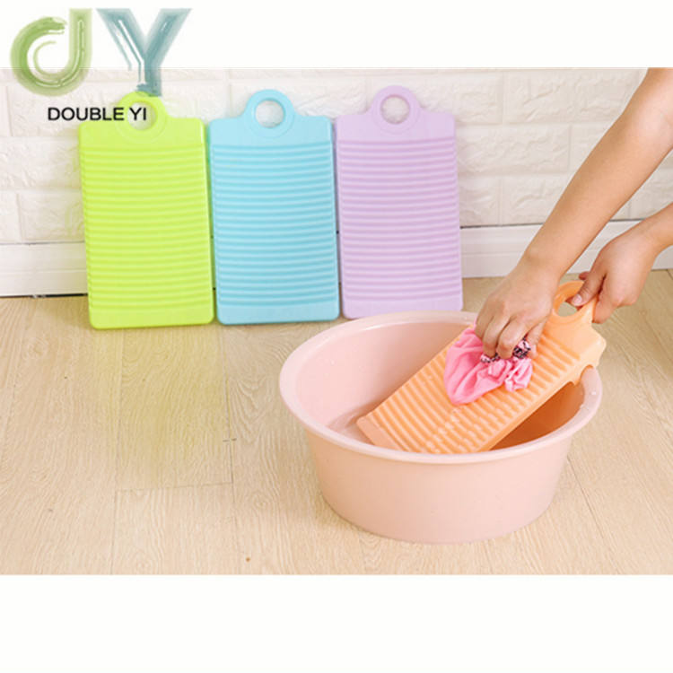 Plastic non-slip mini size washing board household washing clothes hand grip washboard thicker hand rub board wholesale