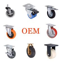 "2"" 3"" 4"" 5"" 6"" 8"" 10"" Inch Swivel Fixed Rigid Office Chair Furniture Industrial Heavy Duty Caster Wheels With Brake"