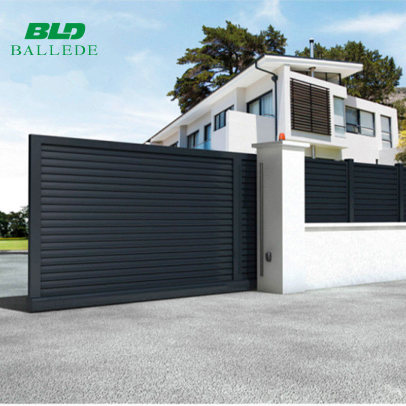 Custom size designs outdoor aluminum automatic house main sliding driveway gate