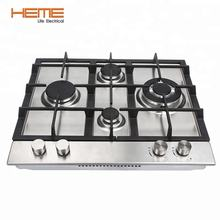 Tempered glass gas stove 4 burner gas cooker