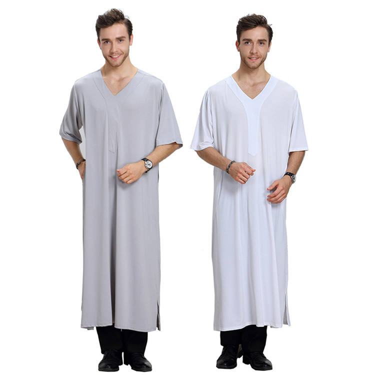 Wholesale Custom Luxury Muslim Men Islamic Abaya Fashion Plus Size Mens Clothing
