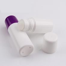 colorful deodorant roller container with pp ball/roll on bottle perfume container
