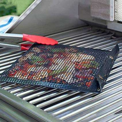 Heat resistant Non stick BBQ Grill Mesh Bag Barbecue Grilling Mats Outdoor Picnic Tool