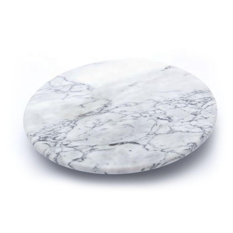 Custom Wholesale American Classic Thick Marble Round Shape Restaurant Lazy Susan